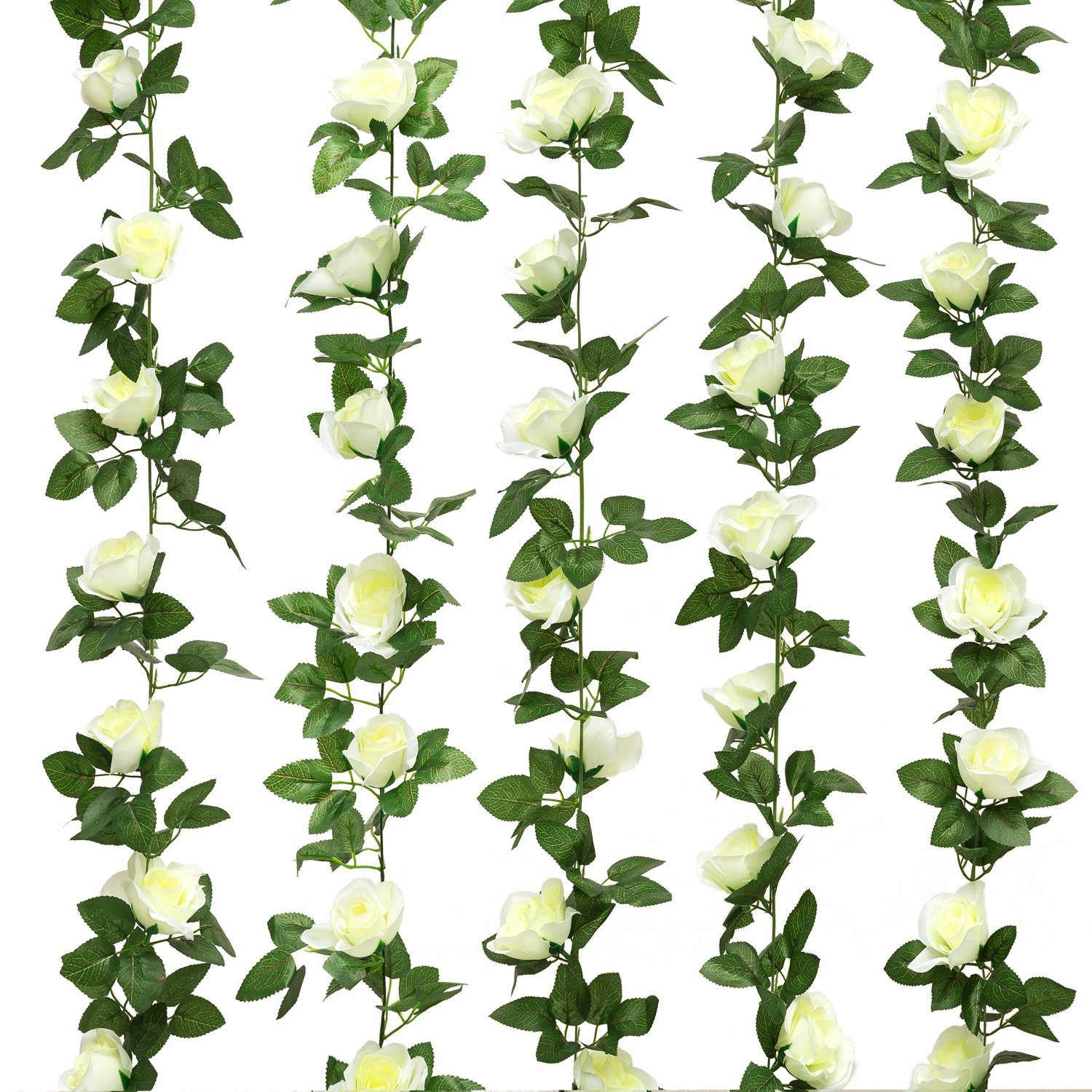 Cheap bulk artificial white rose find bulk artificial white rose get quotations jinway 2pcs16ft fake rose vine garland artificial flowers plants for hotel wedding home izmirmasajfo