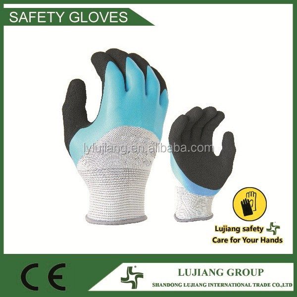 2016 safety gloves nitrile coated work gloves