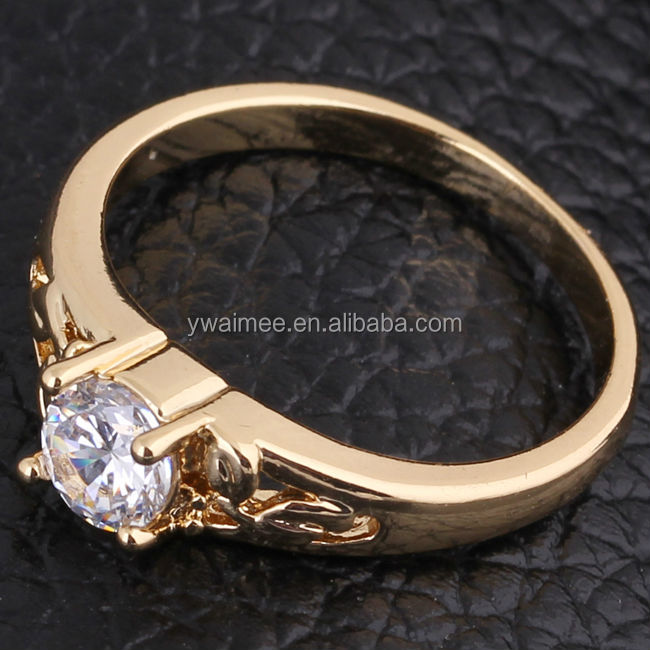 women gold plated white zircon rings,moroccan wedding rings(AM-J27008)