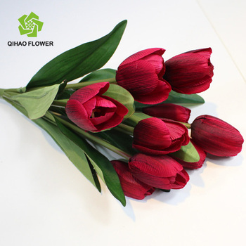 artificial flower mini tulip artificial flower arrangements with vase