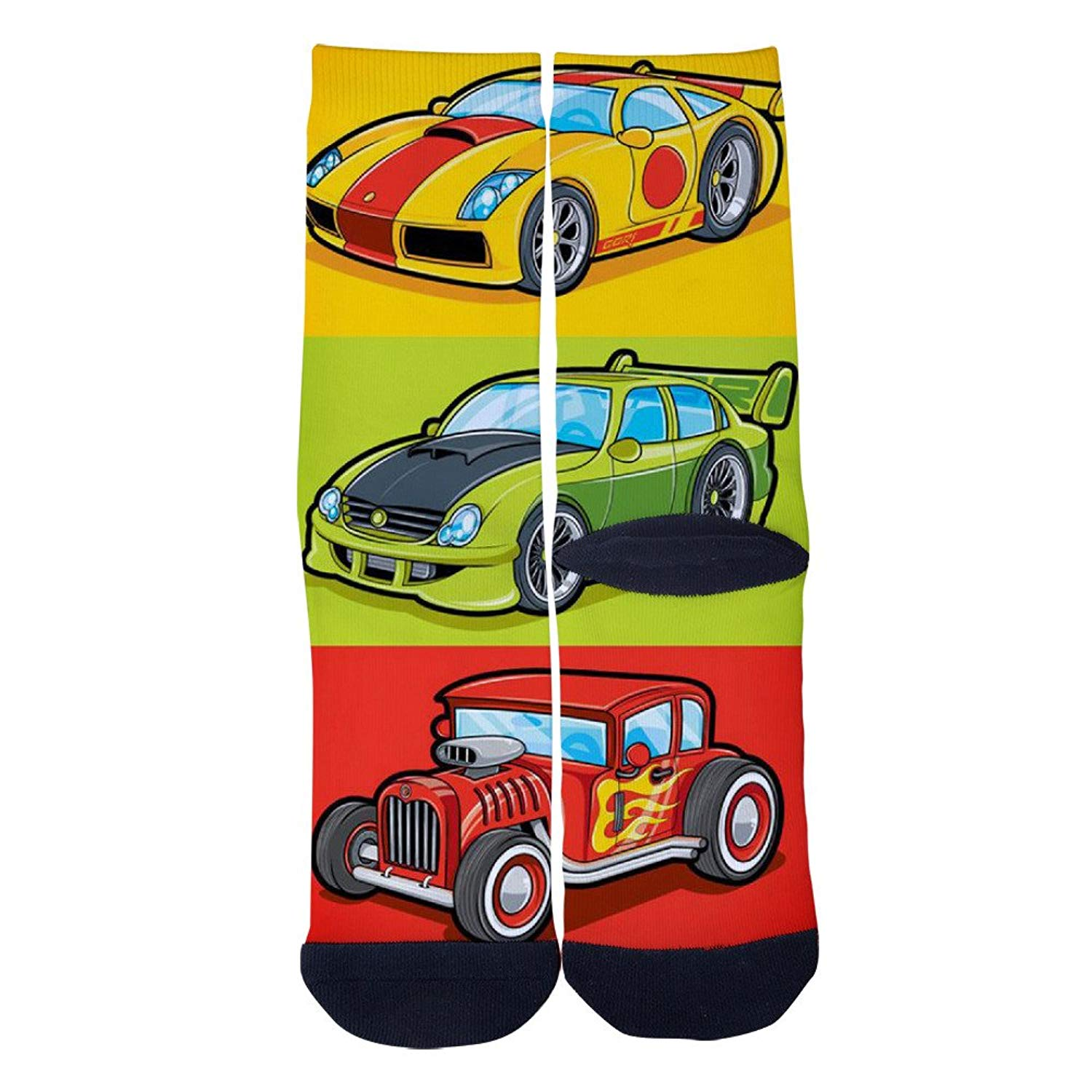 Racing Car Socks Mens Womens Casual Socks Custom Creative Crew Socks
