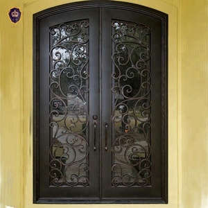 Iron Main Entrance Doors Grill Design