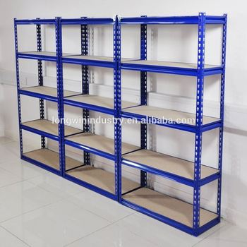 Blue Color Hair Red Warehouse Storage Rack