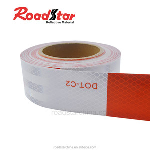 Ultra high reflectivity with a pattern PMMA reflective marking tape for car safety