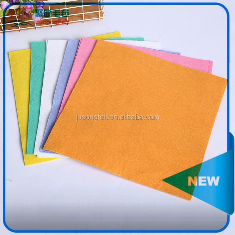 Super absorbent multi-purpose household cleaning use viscose/polyester needle punched nonwoven cleaning cloth