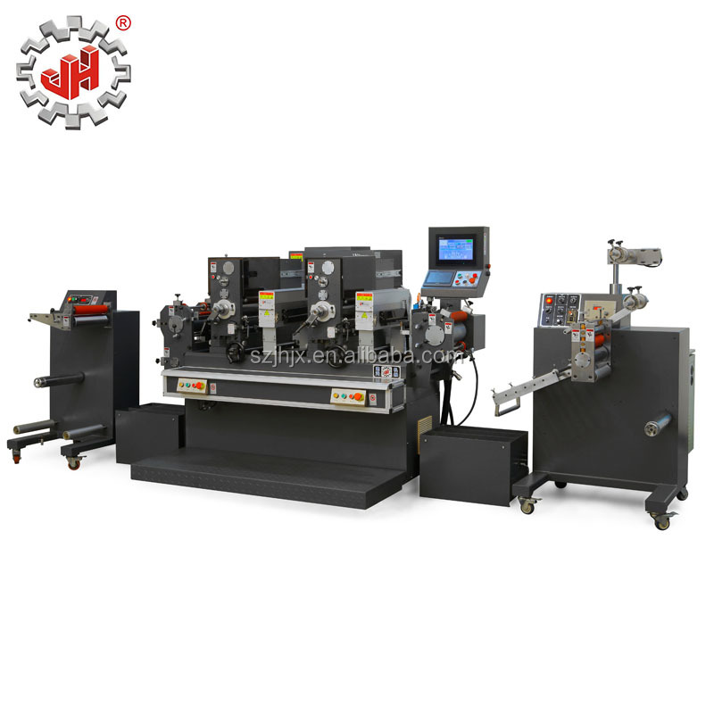 JH-300 2-Color Intermittence Type Full Rotary Label Printing Machine With Uv Drier