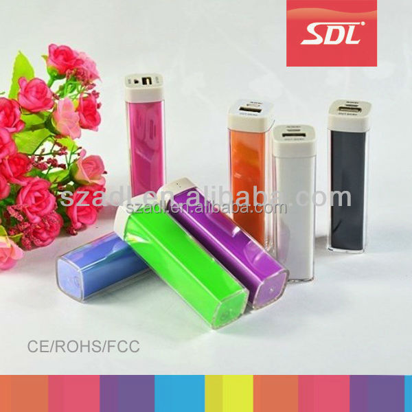 Cheap lipstick power bank promotion, free logo printing power bank mobile charger