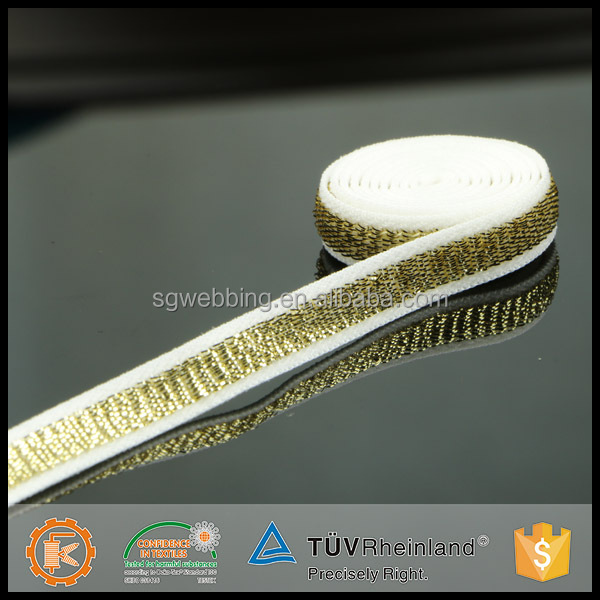 Professional plush shimmery underwear accessories adjustable 1inch waist band elastic for garment