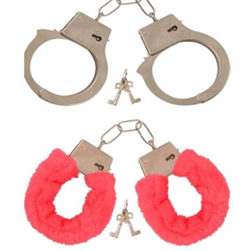 Fluffy Handcuffs, Made of Metal
