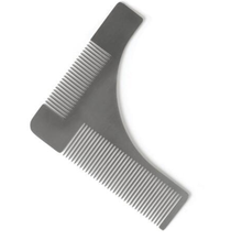 FQ Brand men's beard styling template combing tool stainless steel metal beard comb
