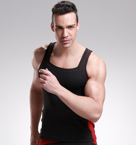 FItness Tank Top Men Bamboo Carbon Fiber Body Sculpting Underwear Sport Vest