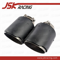 NEW AK STYLE ADJUSTABLE CARBON FIBER REAR BUMPER EXHAUST TAIL PIPE END TIPS ( 51-90 MM )