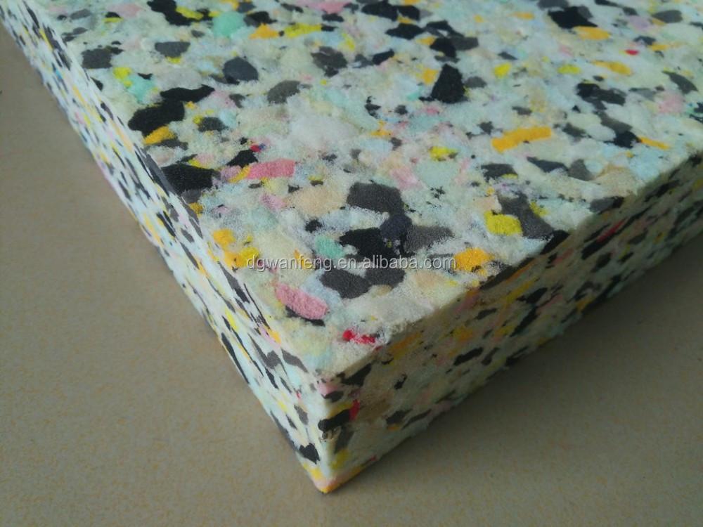 Healthy polymer recycled rebonded foam sheet by scrap foam - Espumas para sofas ...