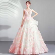 Женское свадебное платье без рукавов It's Yiiya, розовое элегантное платье с кристаллами размера плюс, 2019(China)