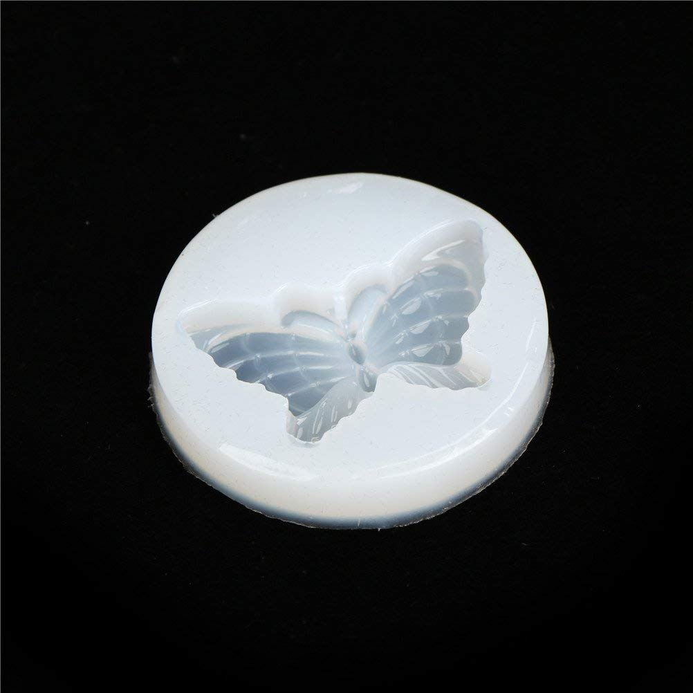 1 Pc Butterfly Crystal Jewelry Casting Mold,Earring Silicone Diamond Casting Mould,Resin Pendant Key Chain Gem Jewelry Making DIY Craft,Necklace Pendant Bracelet Charm Tools Accessories,Cake Model