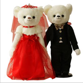 Promotion Plush Bear Toy Couple Teddy Weddingstuffed Two Wedding