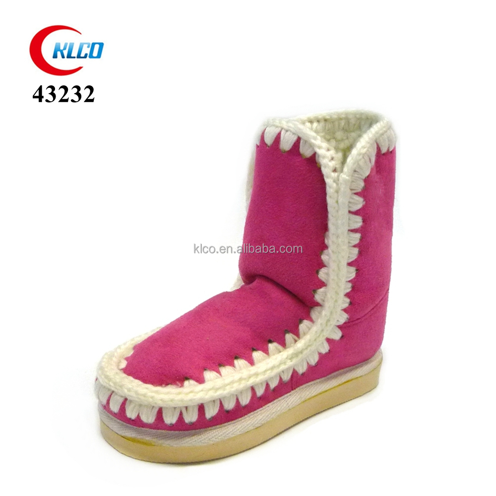lovely wholesale fancy warm red 2016 winter indoor boots