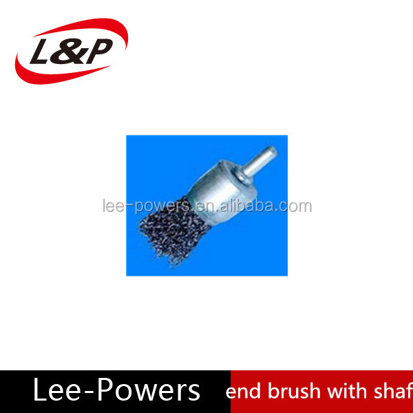 end brush with shaft for power tools