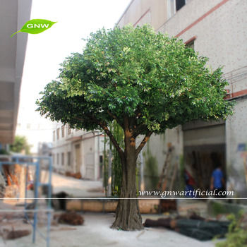 Gnw btr027 factory direct wholesale large artificial for Arboles de jardin de hoja perenne