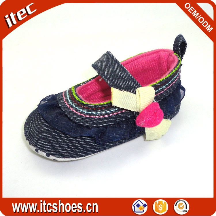 ITEC wholesale new arrival flat baby shoe infant mary jane with lace