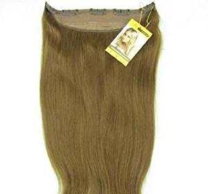"""Remeehi Straight 16"""" 20"""" 24"""" 28"""" One Piece 5 Clips Clip in Human Hair Extensions 85g (28Inch 8# Light Brown)"""