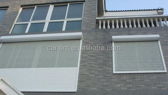aluminium rolling shutters roll up window with auto roller shutter motor