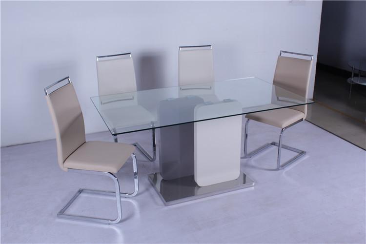 Persoons eettafel glas moderne tafel en stoel te koop buy