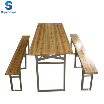 Wooden Folding Beer Table Set/beer Table And Benches - Buy Beer ...