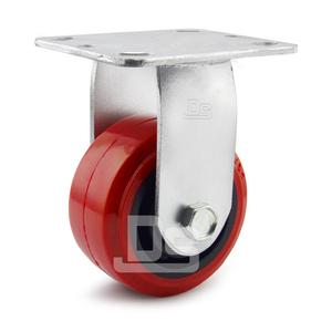 4 5 6 8 Inch Industrial Fixed Rigid Top Plate PVC Caster Wheels with Lock brake