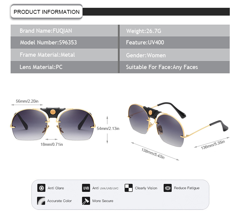 Fuqian Wholesale designer sunglasses outlet Supply-7