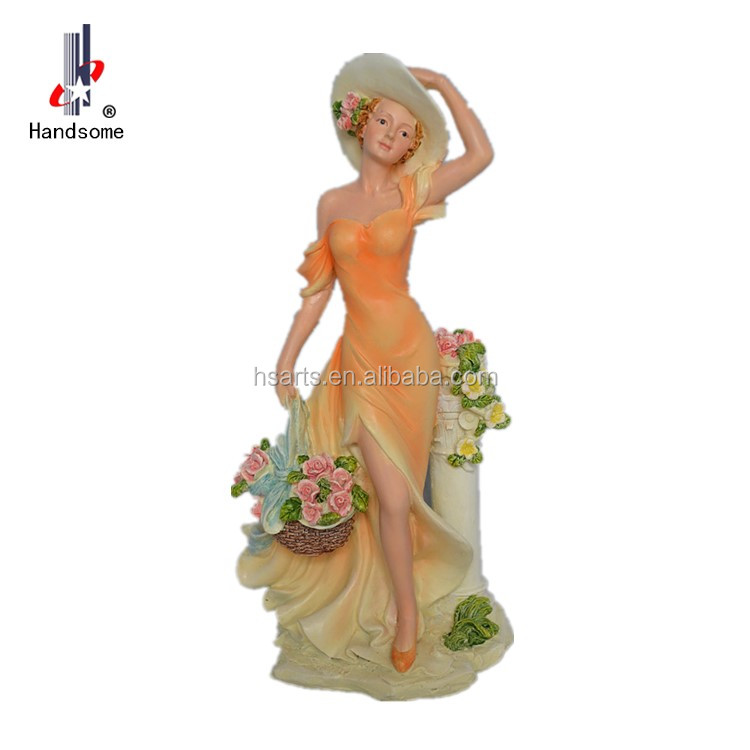 Home Decor Victoria Lady Antique Resin Products Statues For Sale Beauty Figurine