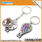 Wholesale custom souvenir Keychain nail clipper cutter holder