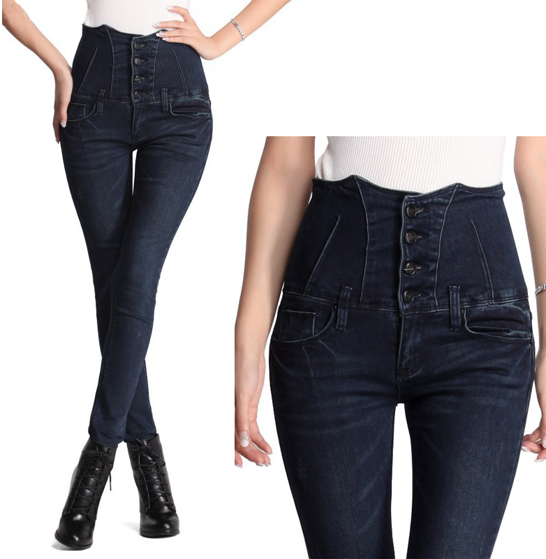 18a78a038fdb7c women high waist jeans plus size vintage light blue grey black true jeans  skinny pencil calca jeans feminina