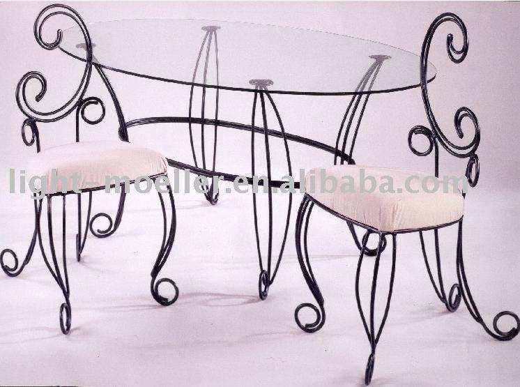 sillas de hierro forjado para comedor