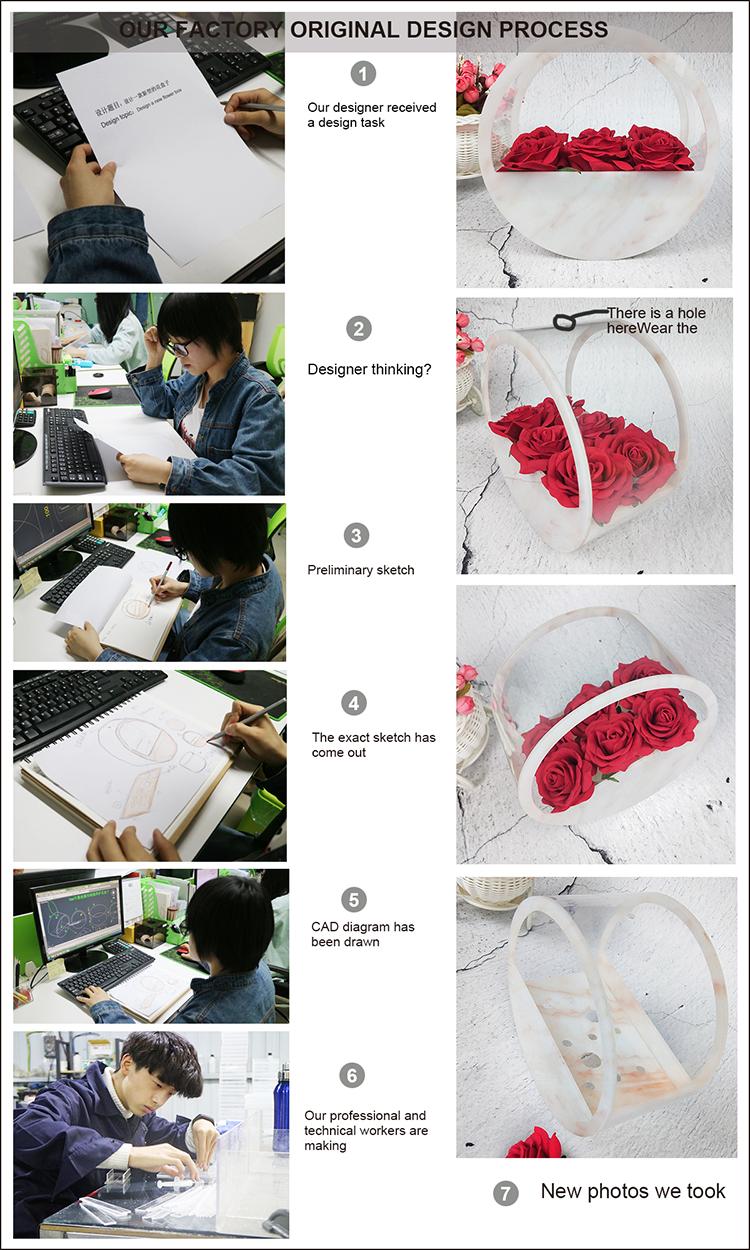 JINBAO desktop A5 clear acryl boek houder