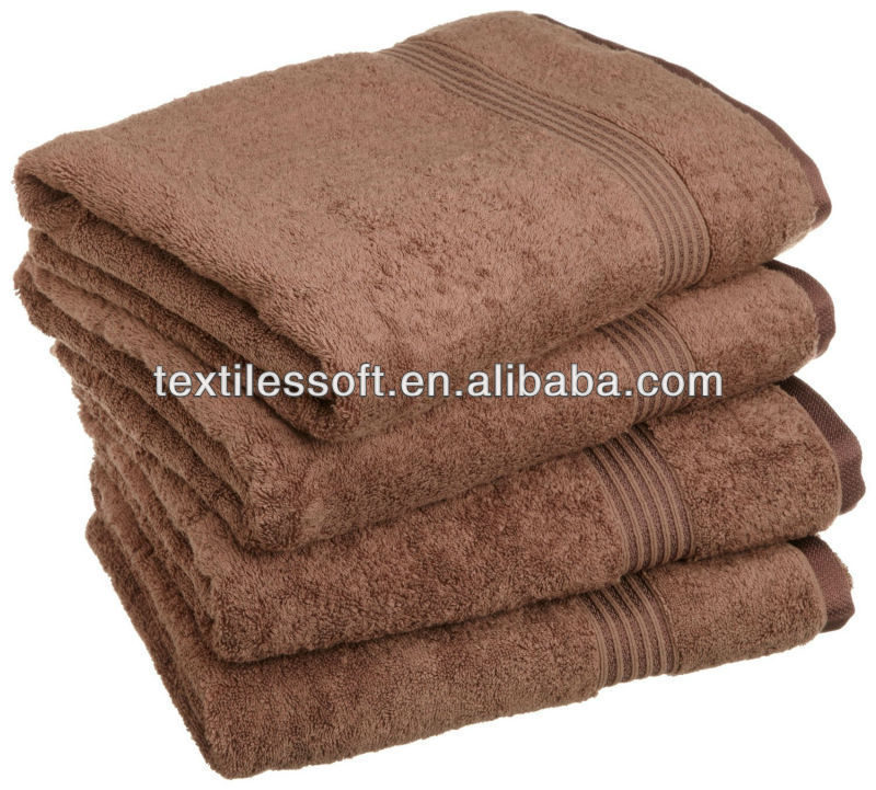 100% cotton Colorful, Soft, and Absorbent Mocha bath towel