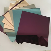 Aimeizhe manufacturer color glass mirror used to decorate 1.0-3.0 mm
