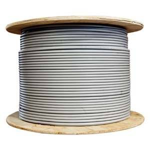 Arrowmounts AM-Cat6-Bulk-015GY 1000' Cat 6 Cat6 23AWG Solid Wire Shielded Ethernet LAN Network Cable ('P) Gray