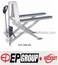 Stainless steel high-lift HAND pallet truck HLT-1000-DS with 1T with CE