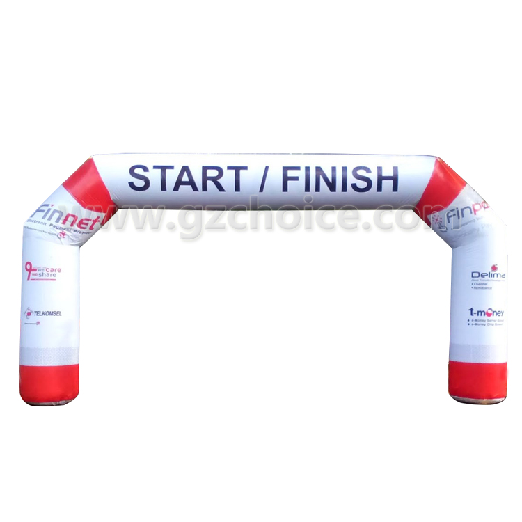 Running Race inflatable start and finish line arch Custom Inflatable Arch