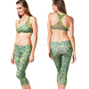 digital printing yoga bra and capris,yoga workout clothing,tight yoga pants