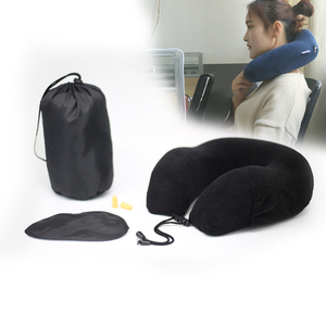 Popular Travel Kit: Carry bag,Eye mask,Earplugs Memory Foam Travel Neck Pillow