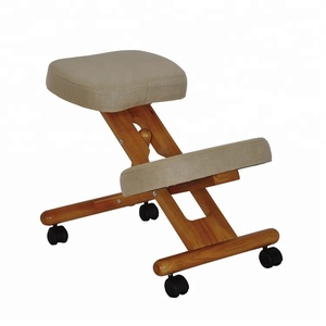 Wooden Ergonomic Swivel Drafting Posture Office Wood Knee Ergonomically Home Stool High Quality Task Kneeling Chair