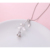 Valentine'S Day Gift 925 Sterling Silver Rose Flower Necklace For Girlfriend