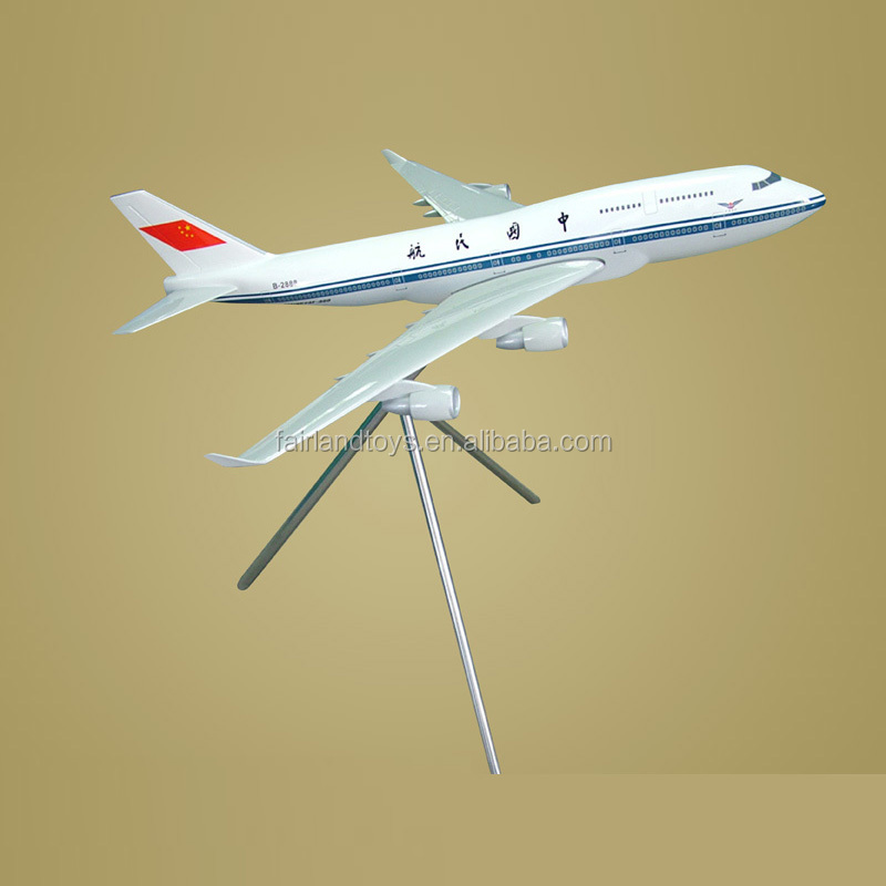 Resin plane model, boeing airplane model, aircraft 747 toy plane
