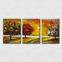 Mountain landscape tree pictures for wall decoration
