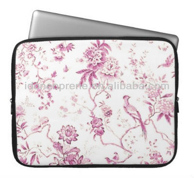 Neopren Niedlich Vintage Vogel Pink Floral Laptop Sleeves Fall