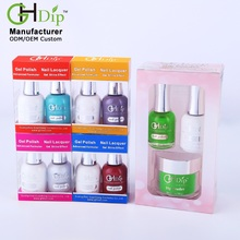Perfect Green Color Match 3 in 1, Dipping Powder match Fingernail Gel Polish and Nail Lacquer polish,Guangzhou Factory Wholesale