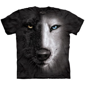 2018 Male's Sports short Sleeve Wolf Full Print T Shirt Men's QuickDry 100%Polyester Custom design 3d Printed Animals T Shirt