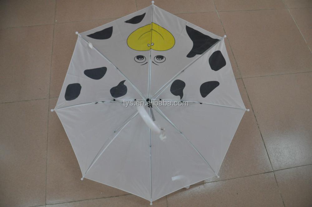kids straight custom animal umbrella,manual open cute animal umbrella with ear